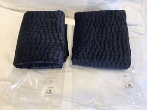 New Set Of 2 Restoration Hardware VELVET Stitch Pick King Pillow  Shams $298