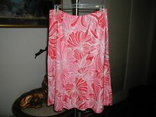 Roxy Womens Skirt Coral & Red Floral Print Size Medium NWOT