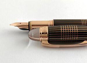 Montblanc Starwalker Red Gold Metal Fountain Pen. 14K M nib.