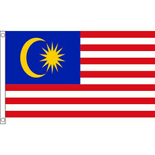 Malaysia National Country Flag Large 5 x 3 FT - 100% Polyester With Eyelets
