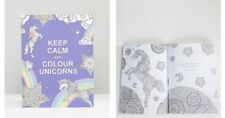 Keep Calm and Colour Unicorns Colouring Book For Adult Unicorn Fans Anti-Stress
