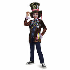 *NEW* Alice in Wonderland Mad Hatter Deluxe Child Costume, Disguise Size M7-8