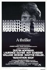 MARATHON MAN Movie POSTER 27x40 Dustin Hoffman Laurence Olivier Marthe Keller