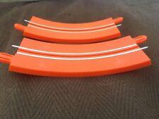 Hot Wheels Racing ranura de coche bucle de circuito de vía curvada Curva De Repuesto Extra X 2 piezas