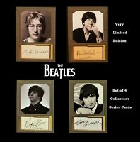 AWESOME Set of 4 BEATLES JOHN PAUL GEORGE RINGO Memorabilia Collectible Art Card