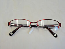 Nine West burgundy semi-rimless eyeglass frame   NW1009