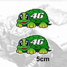 """x2 Valentino Rossi Sticker 46 / TURTLE Vinyl Decal (Gr) 2"""" 5cm"""
