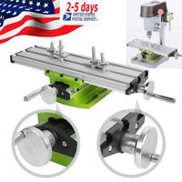 Adjustable Milling Machine Cross Sliding Working Table Vise For DIY Lathe Bench
