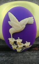 Hummingbird cameo silicone push mold mould  resin sugar craft USA