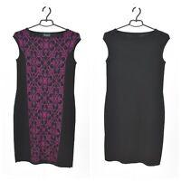 Womens Luisa Spagnoli Dress Knit Virgin Wool Ornament Pattern Black Size M  UK12