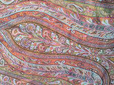 Grand Cachemire Cashmere Ancien XIX  3 Mètre * 1mètre 60 Tissu ancien