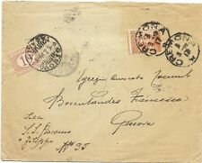 P6014   Cremona, lettera per Genova 1919, tassata per c.10