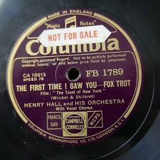 78rpm HENRY HALL the first time I saw you / home town