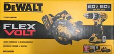 Dewalt FLEXVOLT 20V 60V Li-Ion Brushless Cordless 2-Tool Combo Kit Sealed