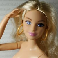 E52~NUDE BARBIE BLONDE ARTICULATED MADE TO MOVE FASHIONISTA MILLIE DOLL FOR OOAK