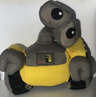 """Disney Store Wall- E Plush Robot Large Stuffed Yellow/Gray Toy 12"""""""