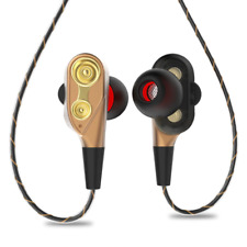 3.5mm HiFi Wired Earphone Dual-Dynamic Quad-core Speaker earbuds DUAL DRIVER