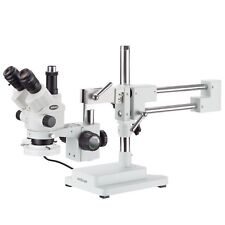 35x 180x Simul Focal Stereo Boom Stand Microscope Fluorescent Light