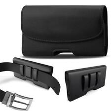 Modes HORIZONTAL BLACK Leather Pouch Holder Belt Clip Loop Holster Case -Classic