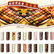 DIY Chocolate Colorful Transfer Sheet Food Decoration Paper (50 pcs / set)