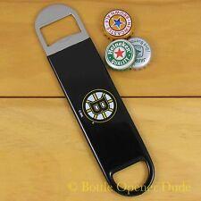 Boston Bruins SPEED, BAR BLADE Bottle Opener Vinyl Coated Steel NHL NEW!!