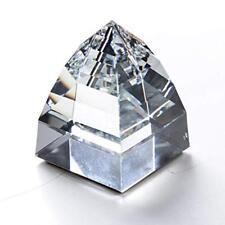 Swarovski Silver Crystal Small Clear Pyramid Paperweight #7450Nr40095 Bnib Rare
