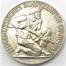 Switzerland  Lucerne Silver Shooting Thaler 1939 5 Francs