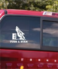 Barrel Racer Turn & Burn Horse Trailer Window Decal Sticker
