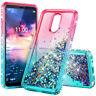 For LG Premier Pro LTE / K30 /Phoenix Plus Glitter Liquid Bling Phone Cover Case