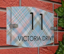 House Number Plaque Personalised Signs Address Street Name Modern Warming Gift