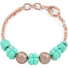 MORELLATO COLOURS,BRACCIALE DONNA,ORO ROSA,JEWELS,SABZ342,7 CHARMS,QUADRIFOGLIO