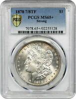 1878 7/8TF Strong Morgan Silver Dollar VAM-33 Doubled Legs & Talons PCGS MS65+