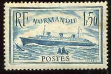 FRANCE  PAQUEBOT NORMANDIE 1F50 bleu clair  Yvert n° 300 ( 3 )