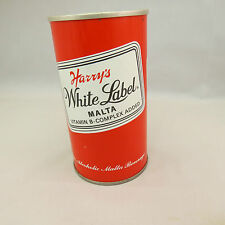Harry's White Label Malta empty 12 oz can, steel pull tab - air can