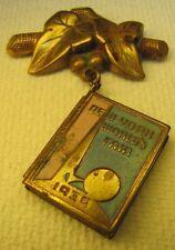 1939 New York World's Fair Pin Locket Pink Blue 2 picture Trylon Perishere NYWF
