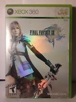 Final Fantasy XIII (Xbox 360, 2010) Complete Game (3 discs)~W/ Original Case