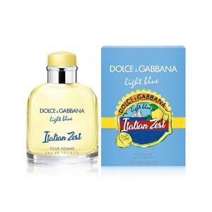 D&G LIGHT BLUE ITALIAN ZEST pour HOMME Dolce Gabbana 4.2 oz (125 ml) EDT SEALED