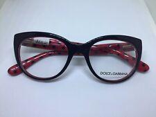 DOLCE e GABBANA DG3201 occhiali da vista donna nero rosso woman eyeglasses