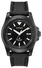 Citizen PROMASTER Tough Eco Drive Black Dial Canvas Strap Men's Watch BN0217-02E