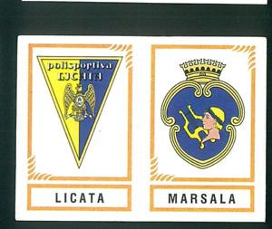 Fig. Calciatori Panini 1982-83 N.597 Scudetti Licata/Marsala! Nuova!!