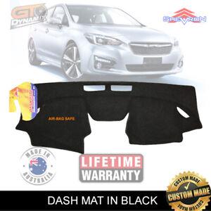 Dash Mat for Subaru Impreza GK GT Gen 5 12/2016-19 2.0i-L MY17 MY18 DM1462 Black