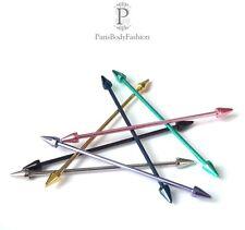 INDUSTRIAL Piercing Barbell Andamio Varilla Cono 7 Colores/6 Tamaños - MUST HAVE