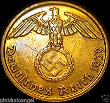 Germany - German Third Reich German 1939F 2 Reichspfennig Coin - World War 2