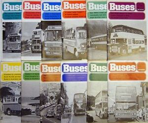 Buses Magazine 1975 Complete in 12 issues Nos. 238-249