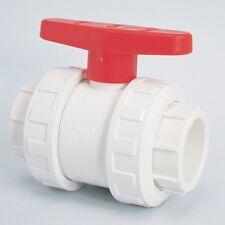 """Piscine / bassin 1.5 """"double union robinet à boule blanc raccords de tuyaux"""
