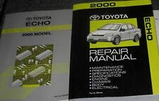 2000 Toyota Echo Service Repair Shop Manual Set OEM W ELECTRICAL WIRING BOOK EWD