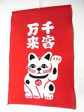 "Japanese Cotton Fabric ""MANEGI"" welcome flag_Manekineko-r,#t017_511"