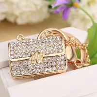 Modern Crystal Rhinestone Handbag Charm Pendant Keychain Bag Keyring Key ! Gift