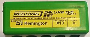 84111 REDDING 3-DIE DELUXE (FULL LENGTH/NECK) DIE SET - 223 REMINGTON 5.56 - NEW