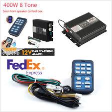 US Stock Loud Speaker 400W Car Police Alarm Siren Horn Control Box 12V Universal
